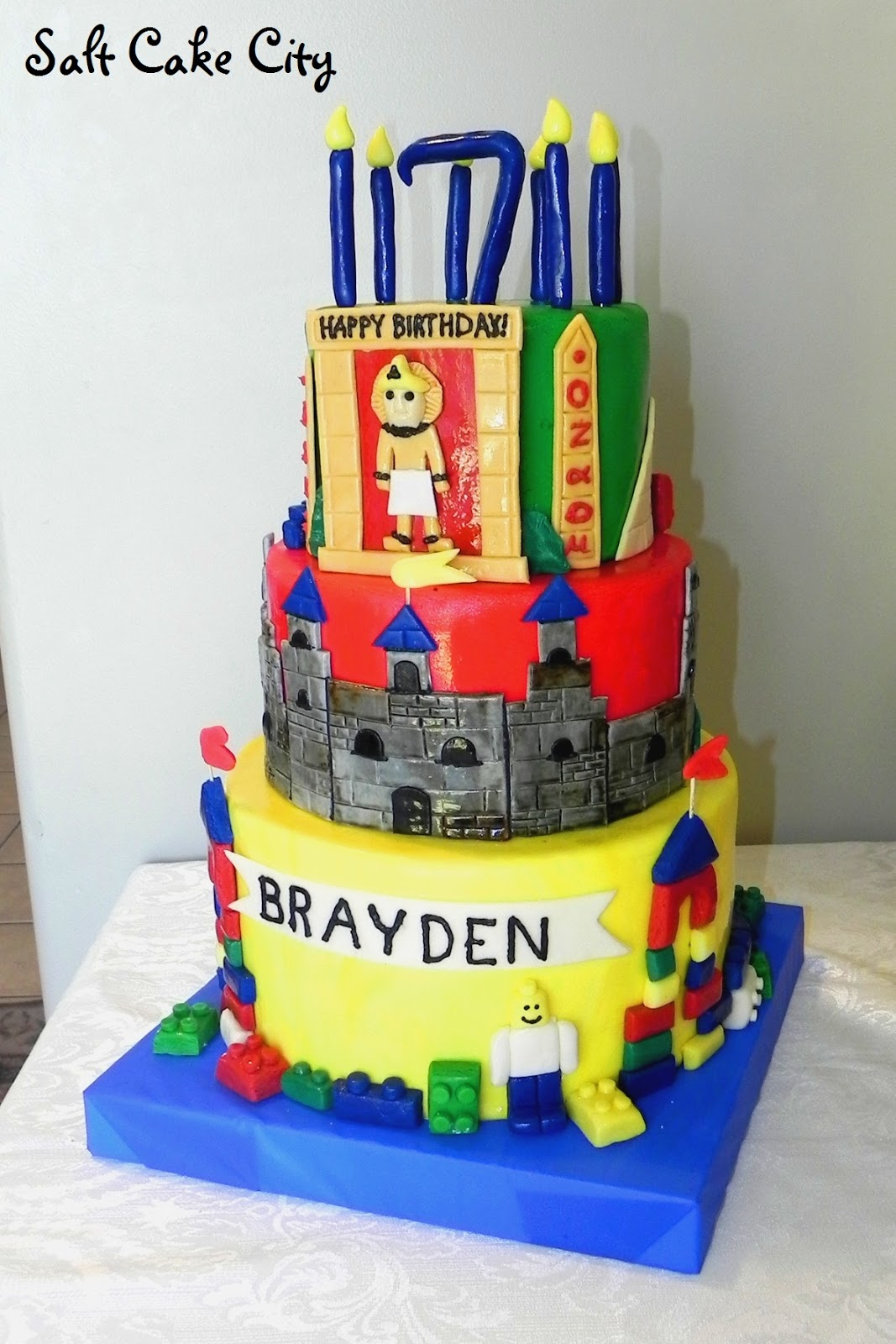 Salt Cake City Lego Birthday Cake