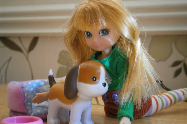 non sexy young girl fashion doll Lottie and biscuit the beagle barbie alternative