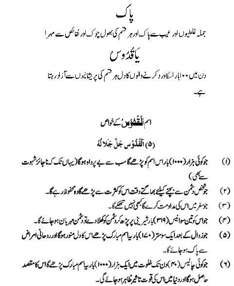 Al-Quddus: Allah Name Benefits | Asma ul Husna K Amal
