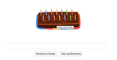 Ulang Tahun Google yang ke 14 Tahun