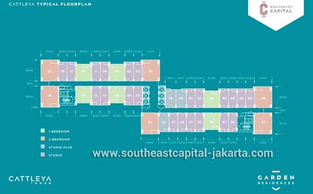 Floorplan Cattleya Apartemen Southeast Capital Jakarta