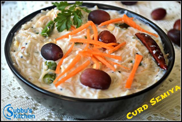Curd Semiya (Thayir Semiya) / Curd Vermicelli, How to cook Curd Semiya, Vermicelli Recipes