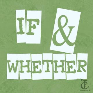 """Penggunaan """"If"""" dan """"whether"""" picture"""