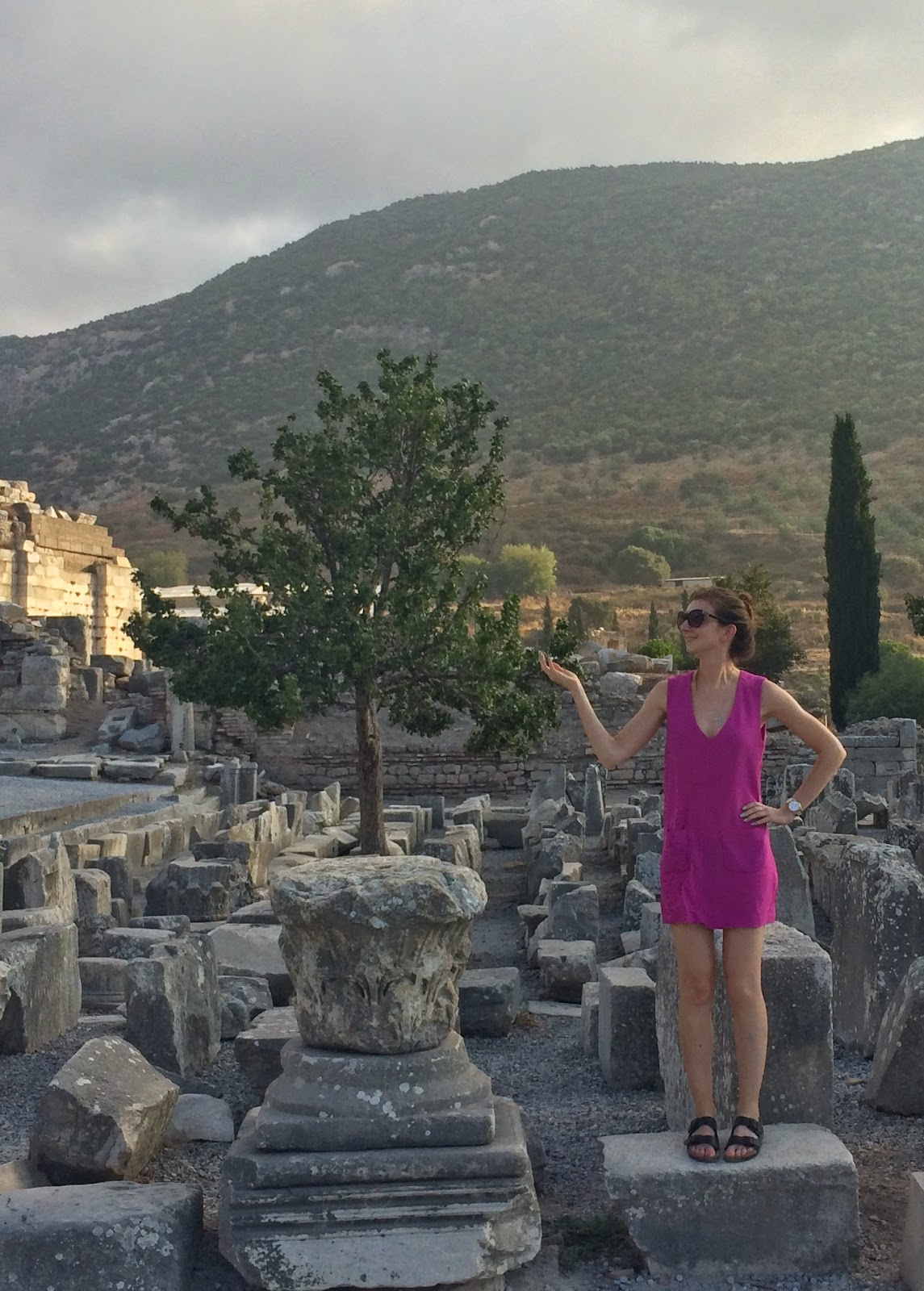 Steph About Town in Ephesus, Turkey