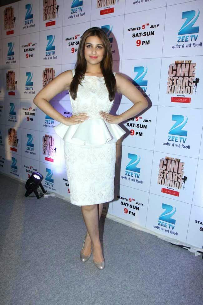 Actress Parineeti Chopra In White Outfit