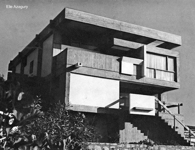 Residencia de estilo brutalista en Casablanca, Marruecos, años 60