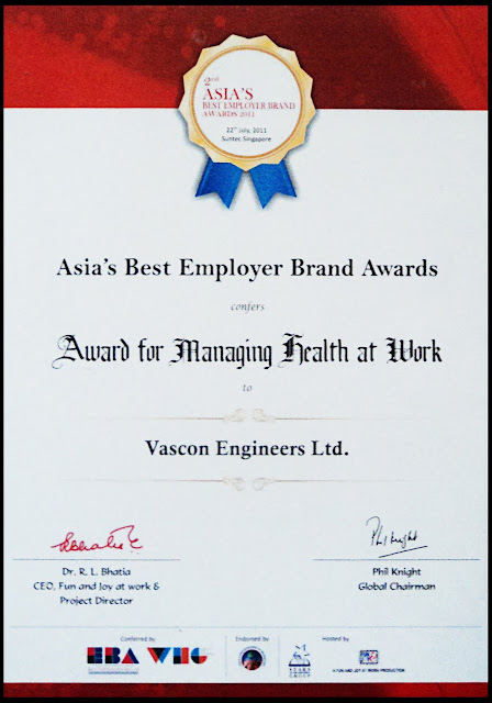 Asia's best employer award