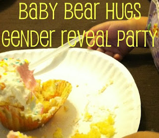 gender reveal cupcake showing pink