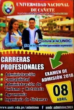 Admisión 2018 UNDC