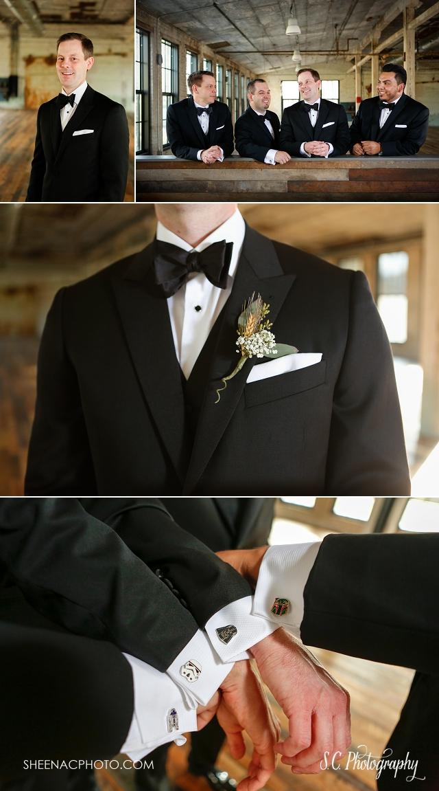 star wars cufflinks groomsmen, fall wedding, journeyman, michigan wedding photographer