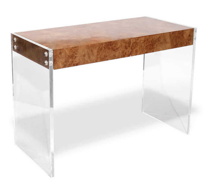 Patrick j baglino jr interior design a burl wood and for How to make lucite furniture