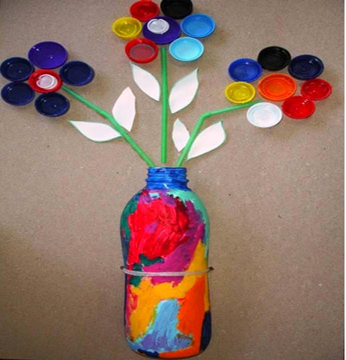 Art craft ideas waste material kids arts crafts tierra of for Craft model with waste material