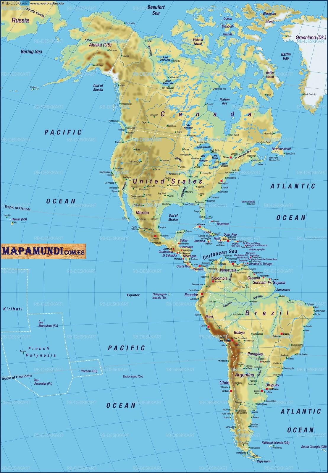 Mapa Mundi America