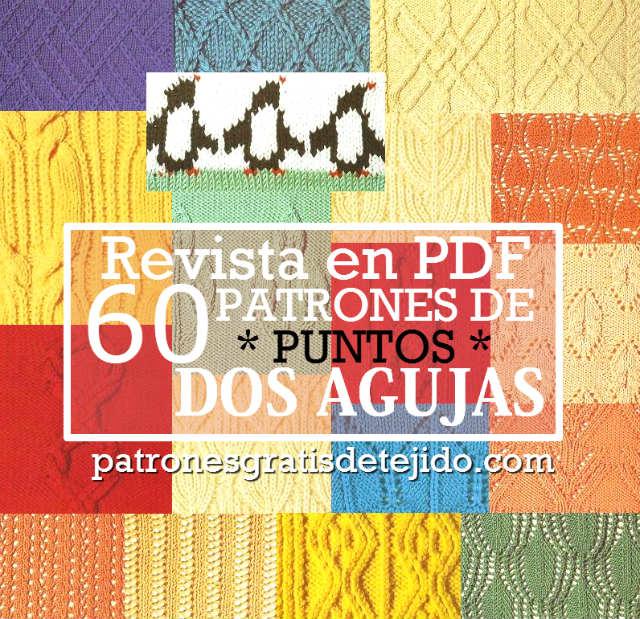 Revista con 60 Patrones de Puntos Dos Agujas / PDF Gratis | Crochet ...