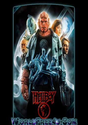 Poster Of Hellboy (2004) Full Movie Hindi Dubbed Free Download Watch Online At worldfree4u.com