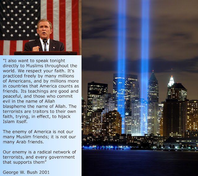 psa george w bush 9 11 speech The speaker is george w bush, the relatively new, then-president of the united states occasion we will write a custom essay sample on bush 9/11 speech specifically for you.