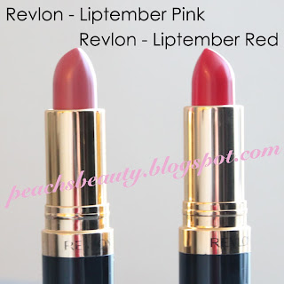 PeachsBeauty - Revlon Liptember Pink Red Lipstick Swatch
