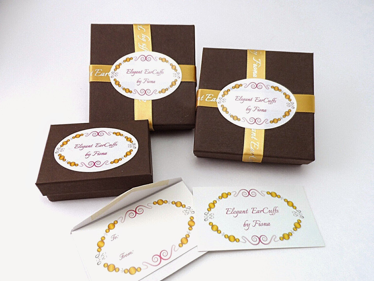 New packaging and Gift Tags from Elegant EarCuffs by Fiona