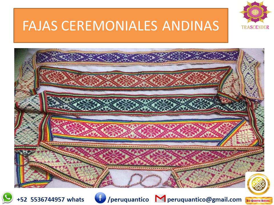 FAJAS CEREMONIALES ANDINAS