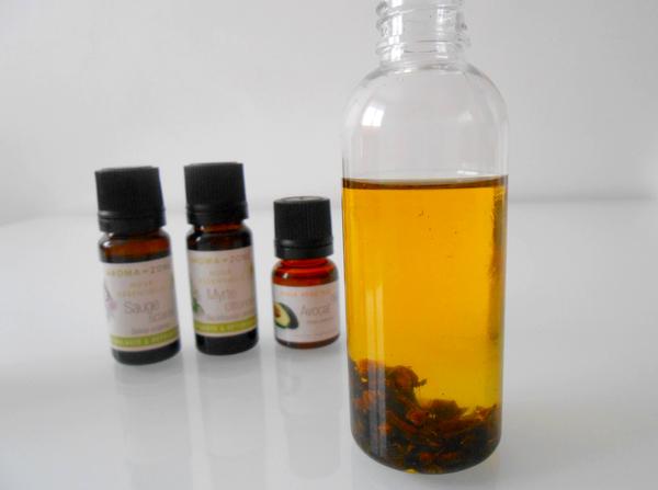 huile anti-repousse poil préparation