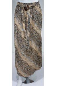 Rok Batik Cantik 002 - Biru Dongker Coklat (Toko Jilbab dan Busana Muslimah Terbaru)