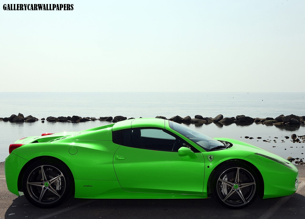 2013 ferrari 458 spider green automotive todays. Cars Review. Best American Auto & Cars Review