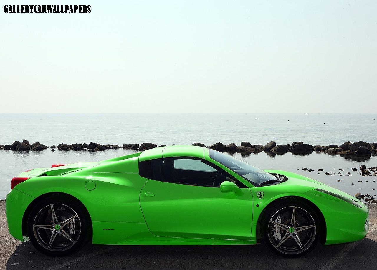 Ferrari 2013 ferrari 458 spider : 2013 Ferrari 458 Spider Green ~ Automotive Todays