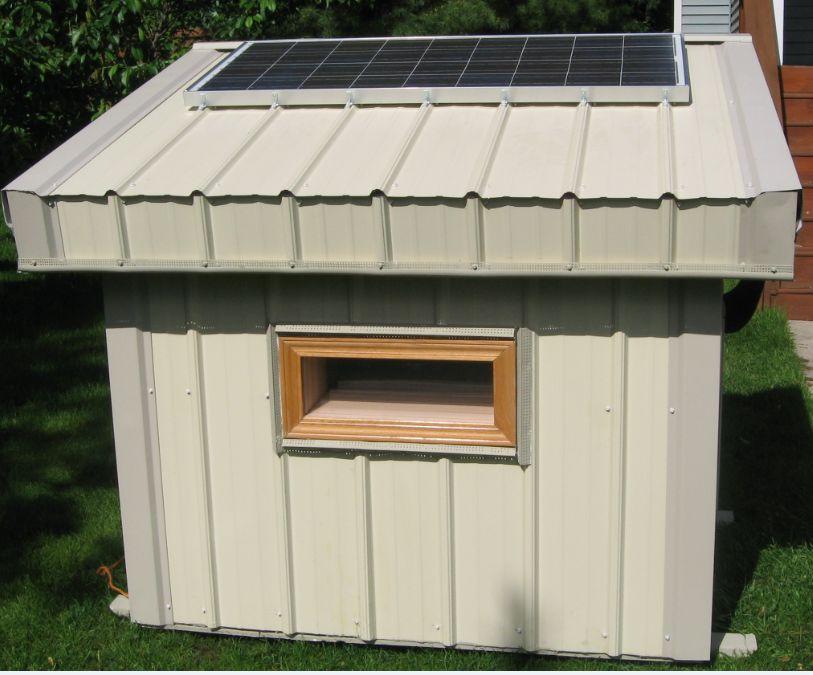 Solar Heated Dog House