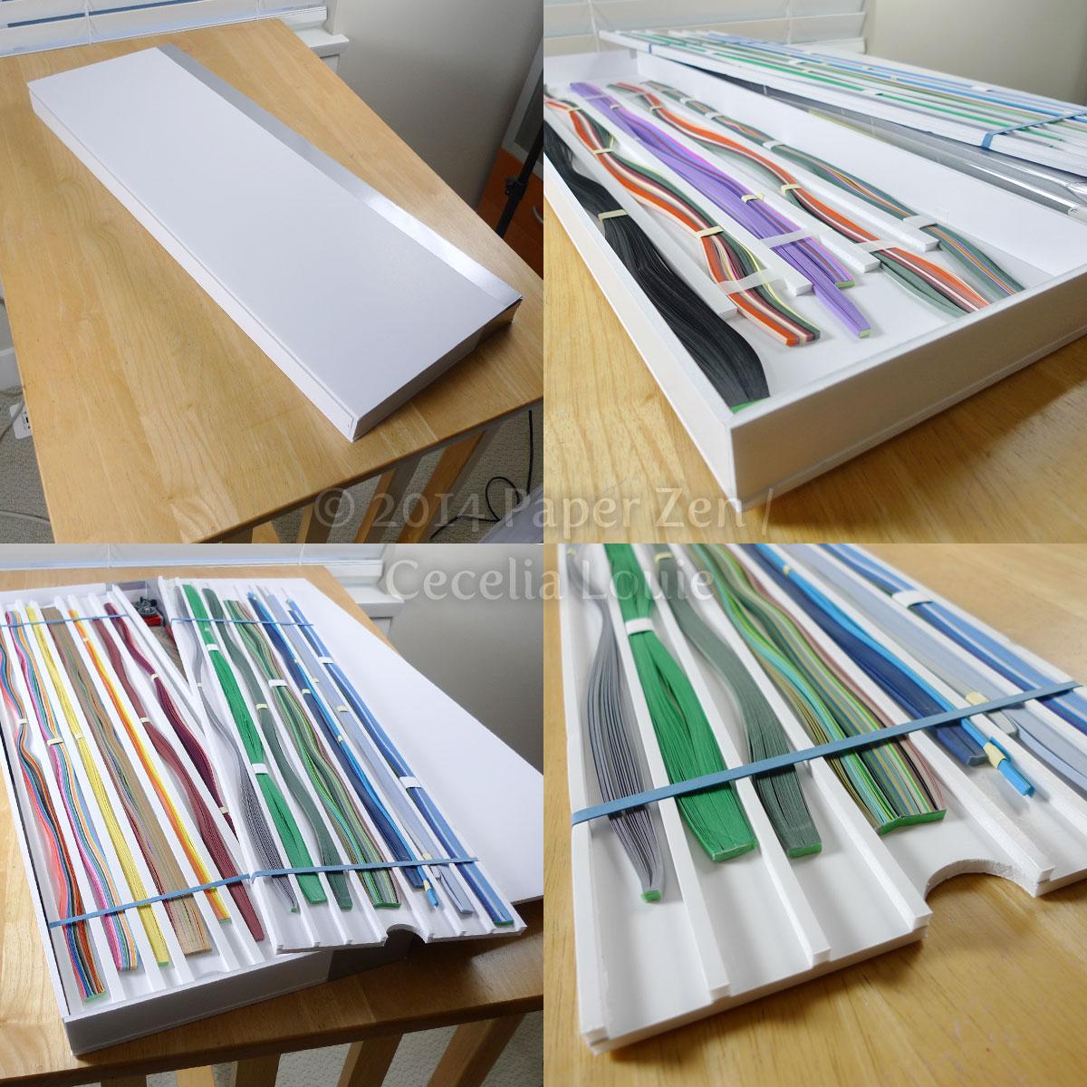 paper zen quilling paper storage