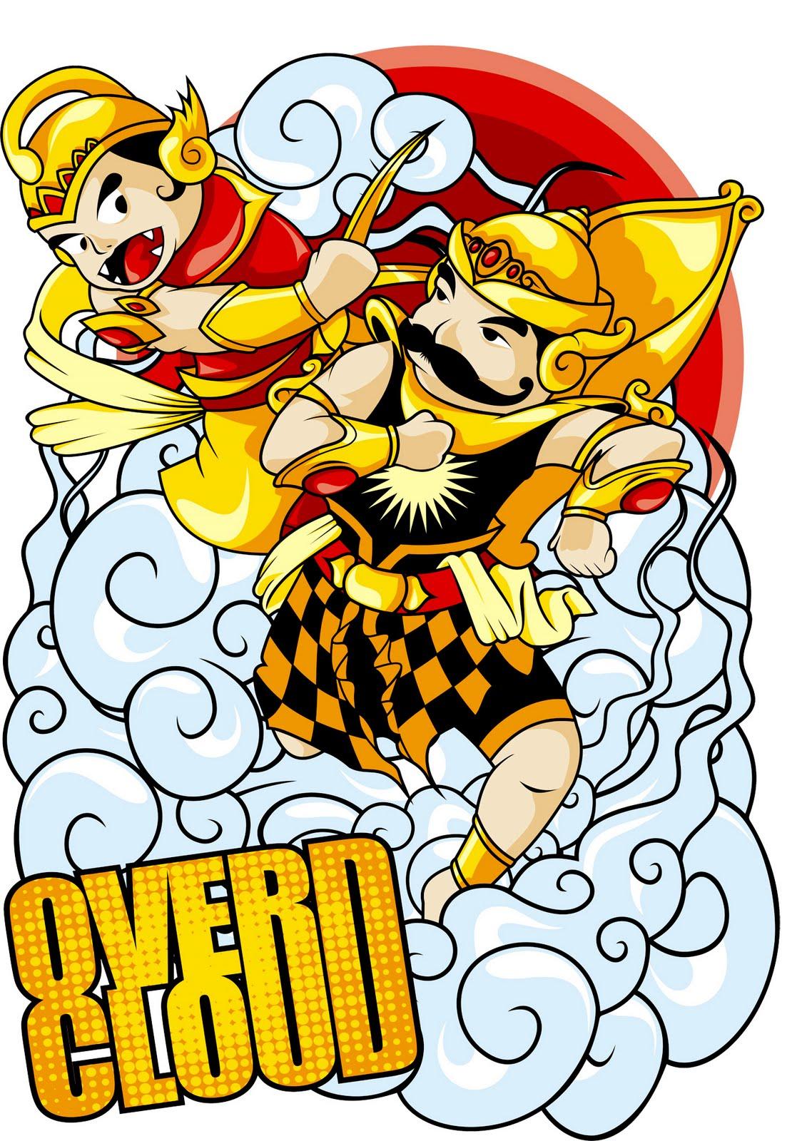 Foto Keren Lucunya Gatotkaca Super Hero Indonesia Chibi Melawan Raksasa