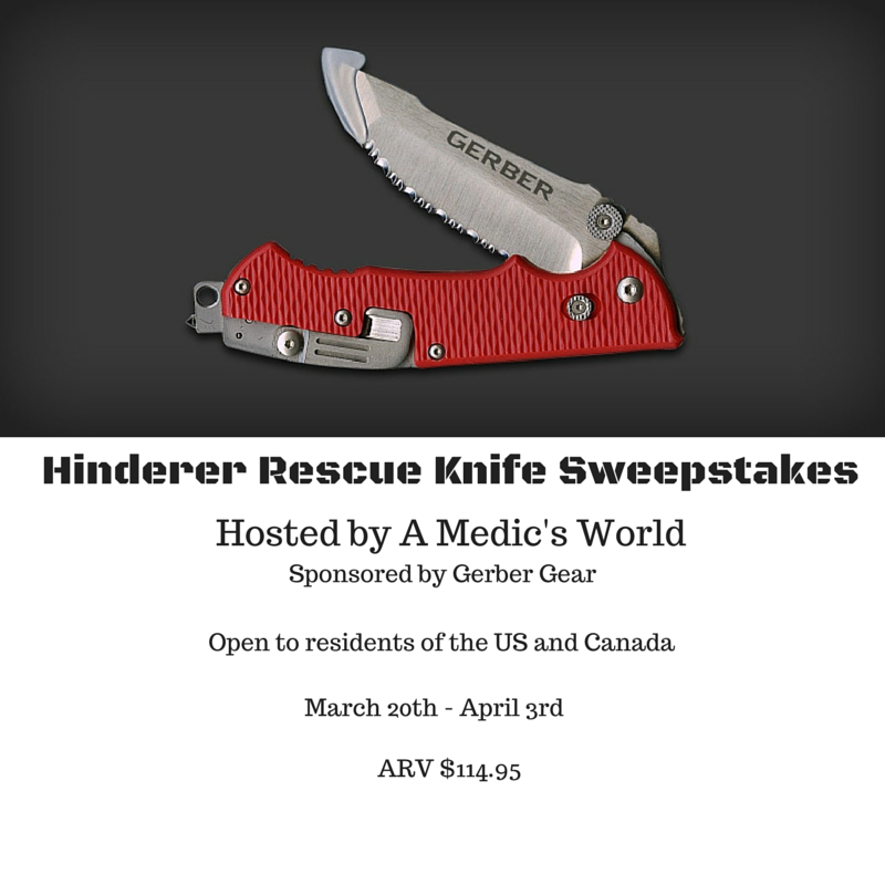 Enter the Hinderer Rescue Knife Giveaway. Ends 4/3