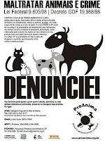 Contra violência aos animais!