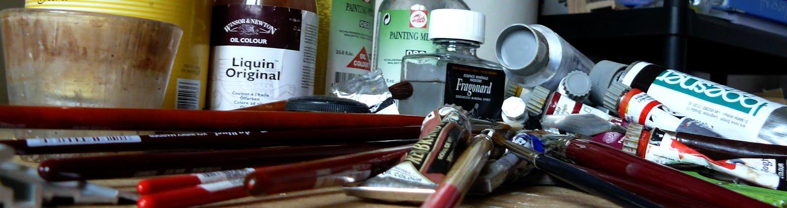 Le mat riel de peinture l 39 huile le coquillage et l 39 oreille for Materiel peinture a l huile