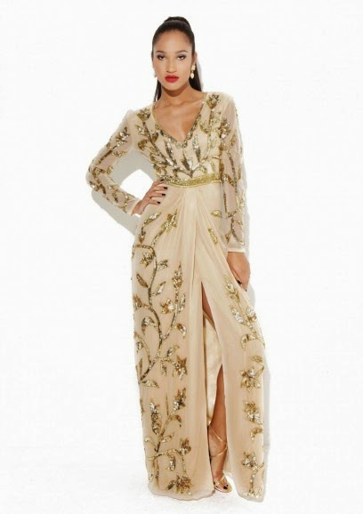 Virgos Lounge nude long dress