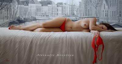 Modelos de Cuadros de Mujeres Desnudas Acostadas