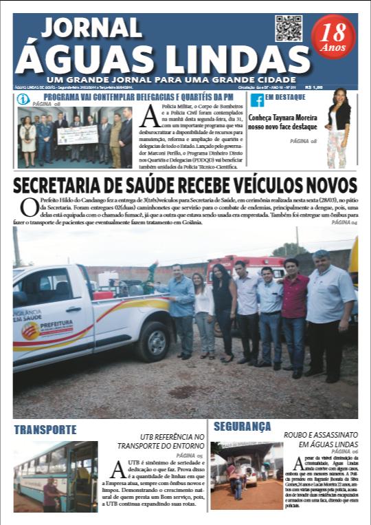 ediçao 211 do Jornal Águas Lindas