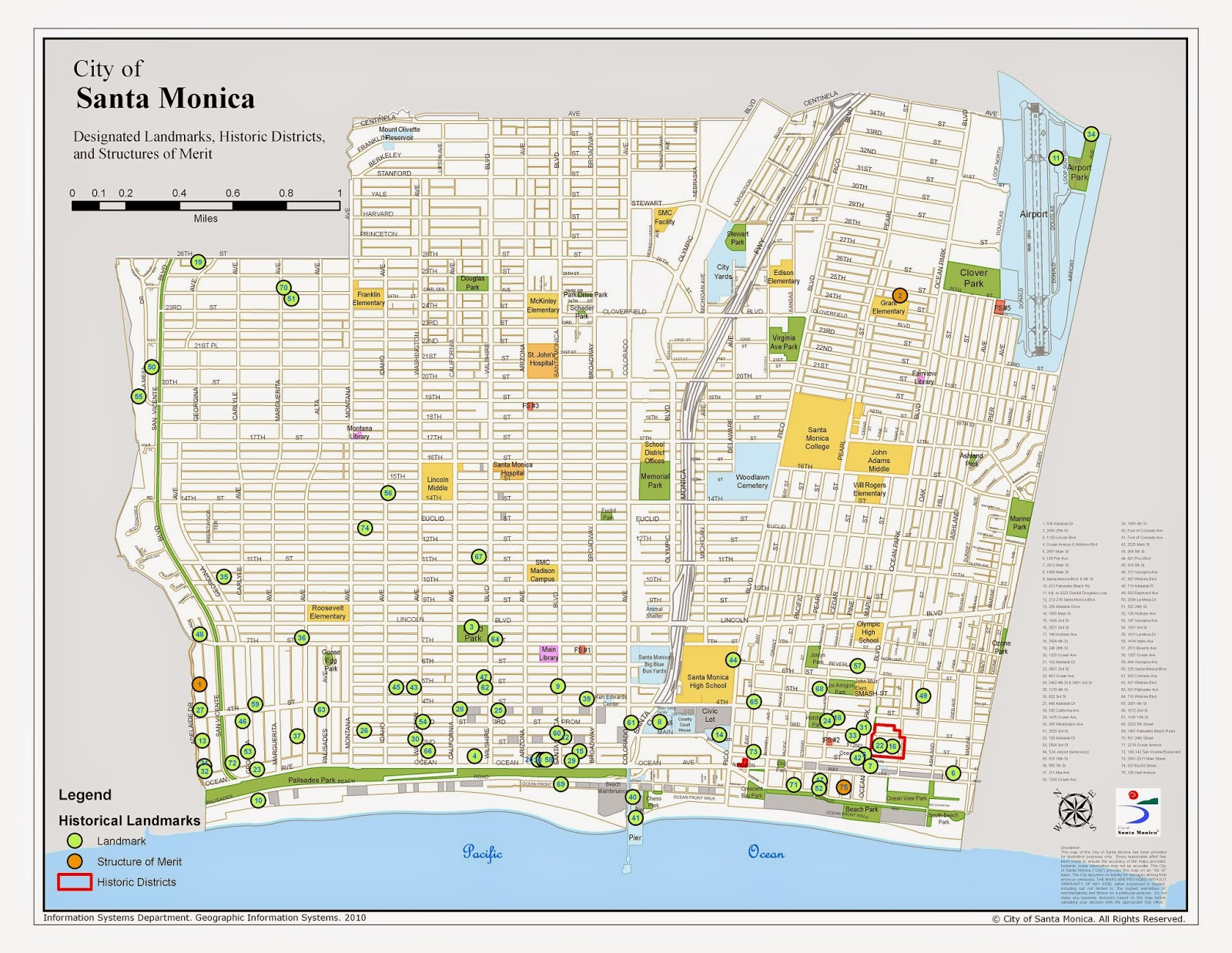 available by visiting the city of santa monica information services department isd site map catalog and select historic landmarks historic landmark