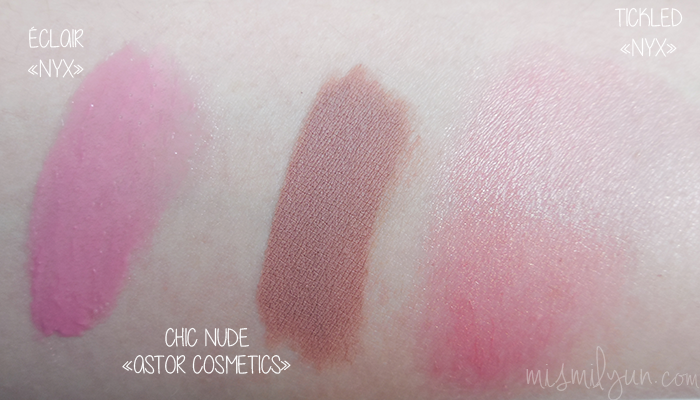 swatches nyx astor cosmetics