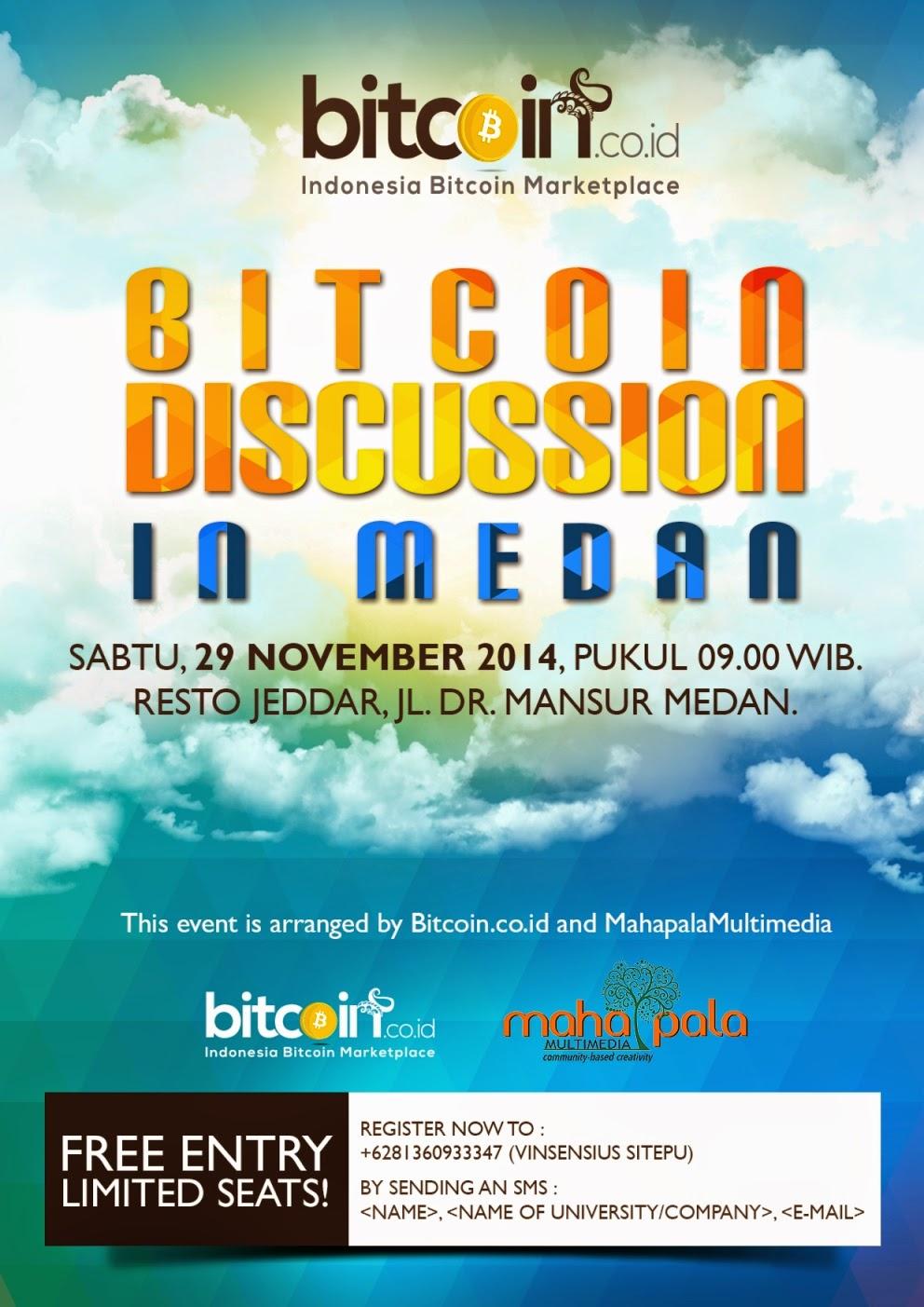 Diskusi Bitcoin di Medan bersama Oscar Darmawan