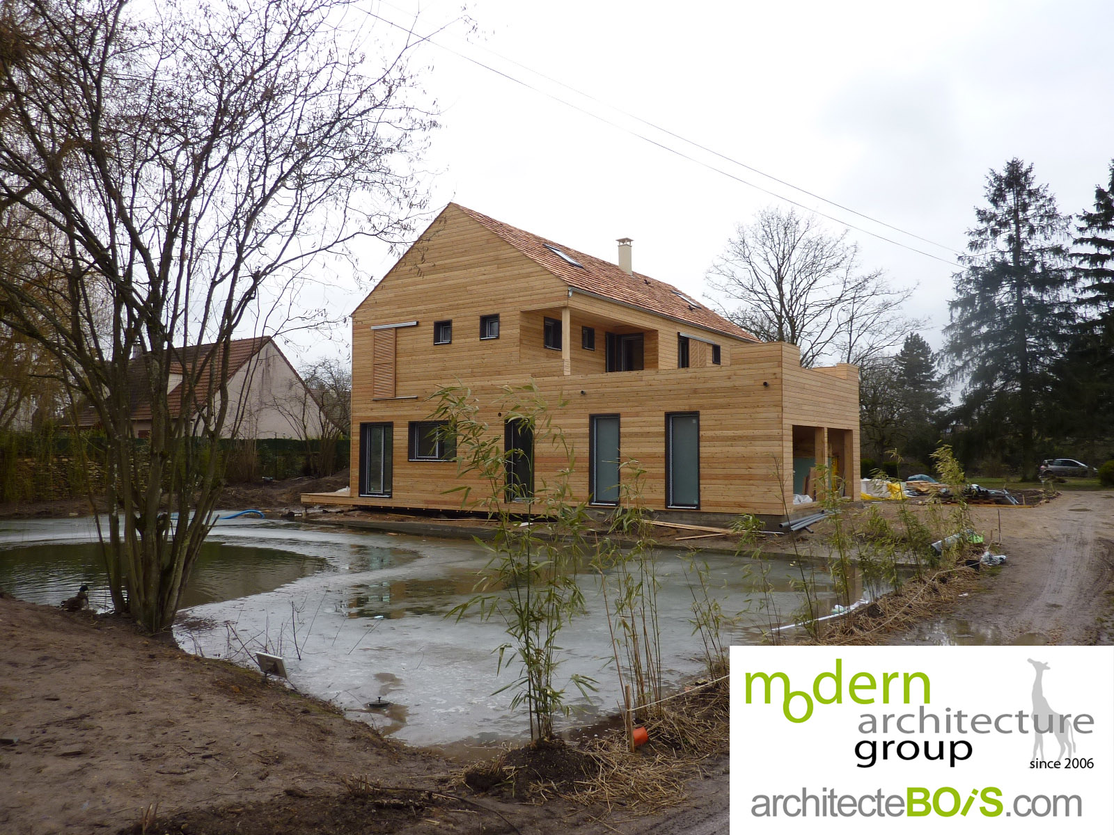 La maison bois architecte maison bois versailles - Architecte maison bois ...