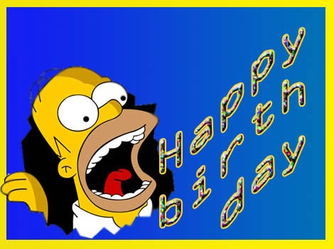 Happy Greetings Congrats Happy Birthday With Simpsons