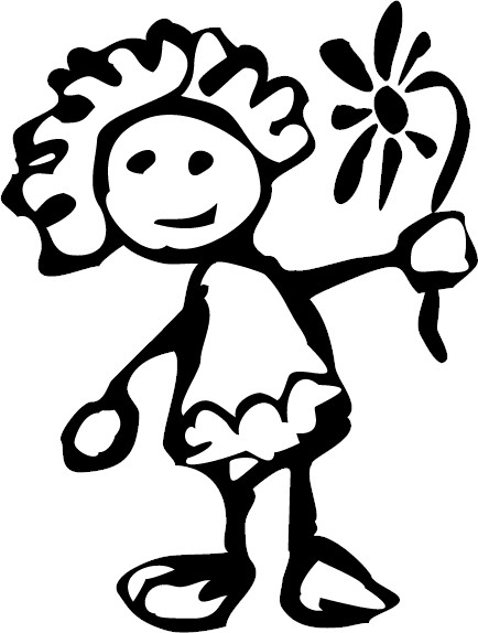 Flower Girl Coloring Book - Flower Coloring Page