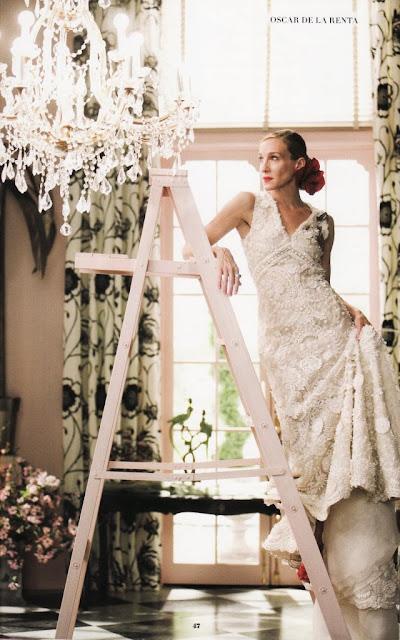 Carrie Bradshaw vestida de novia por Óscar de la Renta