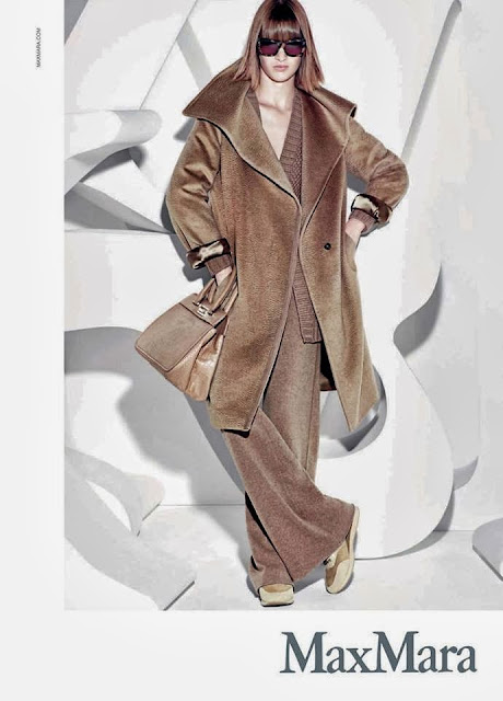 Maxmara AW 13 campaign wearing runner sneakers