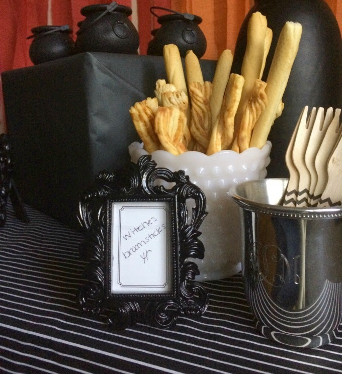 """Cheese Straws as """"Witches Broomsticks"""""""