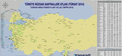 T�rkiye R�zgar Santralleri Atlas� / Ocak 2014