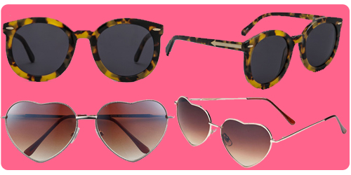 sunnies, sunglasses, Karen Walker, bp, brass plum, nordstrom, taylor swift, heart-shaped glasses, heart glasses, 22, asos