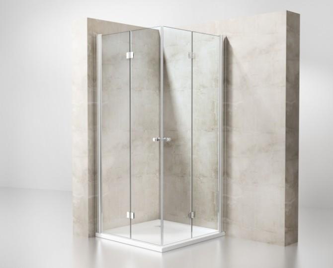 Box doccia angolare a due lati pieghevoli box doccia cabine multifunzione e vasche per disabili - Box doccia senza piatto ...