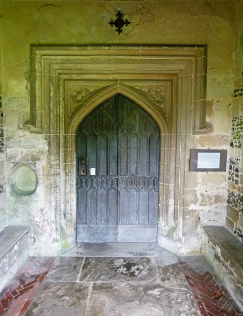 Ewelme, church, doors, north entrance