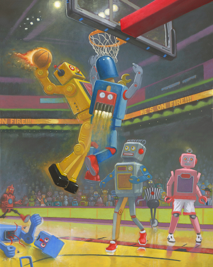 03-Basketbots-Geoffrey-Gersten-Surreal-and-Retro-Paintings-in-Modern-Times-www-designstack-co